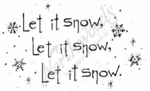 J4510 Tall Simple Let It Snow…