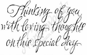 J4676 Script Thinking Of You With Loving
