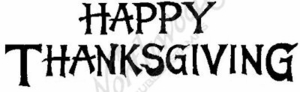 J4803 Bold Happy Thanksgiving