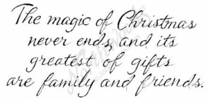 J4925 Cursive The Magic Of Christmas