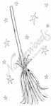 J7538 Witch's Broom and Stars