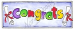 J8601 Open Congrats With Rectangle Border