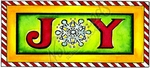 J8776 JOY With Snowflake In Candy Cane Border