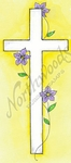 J9012 Simple Cross With Flowers