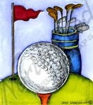 M10261 Golf Ball, Bag And Flag