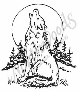 M1720 Wolf and Moon - Large