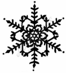 M1888 Solid Large Snowflake