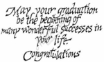 M2322 Calligraphy May Your Graduation