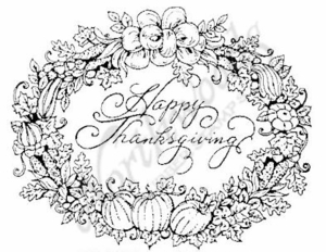 M3713 Happy Thanksgiving Oval-Medium