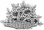 M3754 Sunflower Basket