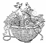 M3863 Basket Of Ornaments