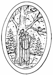 M3884 Sled and Tree Oval