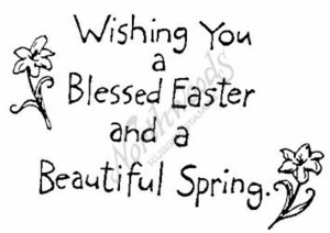 Simple Wishing You A Blessed Easter M4339
