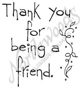 Tall Simple Thank You For Being A Friend M4361