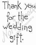 Tall Simple Thank You For The Wedding M4367
