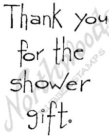 Tall Simple Thank You For The Shower M4395