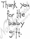 M4396 Tall Simple Thank You-Baby Gift