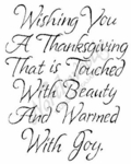 M4483 Formal Wishing You A Thanksgiving