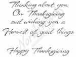 M4484 Cursive Thinking About You On Thanksgiving