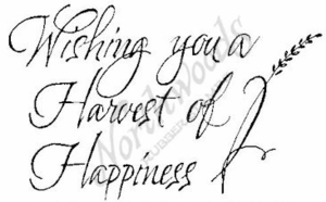 Script Wishing You A Harvest M4485