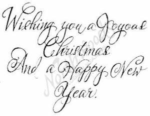 Script Wishing You A Joyous M4883
