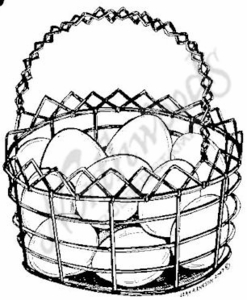 Eggs In Wire Basket M5044