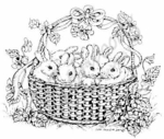 M5046 Baby Bunnies In Basket