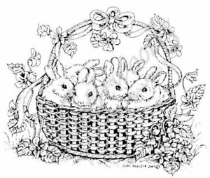 Baby Bunnies In Basket M5046