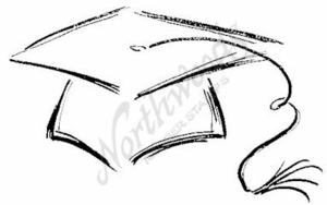 M6062 Sketch Graduation Hat