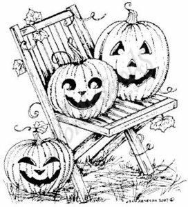 M6182 Jack-O-Lanterns On Chair