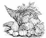 M6209 Cornucopia With Gourds