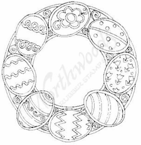 M6487 Cookie Egg Wreath
