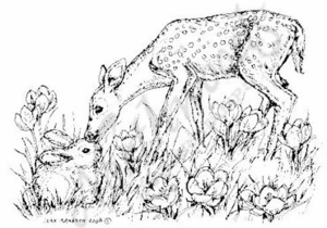 M6488 Bambi and Bunny