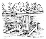 M6552 Adirondack Chairs and Gazebo