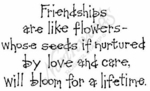 M6678 Cool Dot Friendships Are Like Flowers