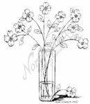 M6918 Apple Blossom Branch Vase