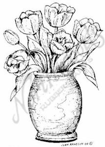 M6933 Tulips In Clay Pot