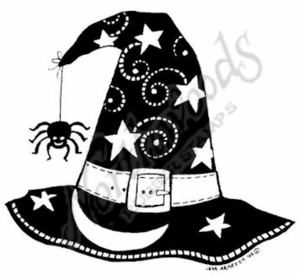 M7002 Solid Witch's Hat With Spider