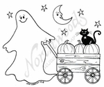 M7016 Ghost and Pumpkin Wagon
