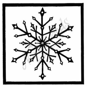 M7178 Snowflake In Square