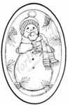 M7179 Snowman With Ice Cream Cone Oval