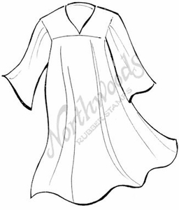 M7456 Sketch Graduation Gown