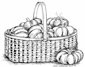 M7587 Tiny Pumpkins In Basket