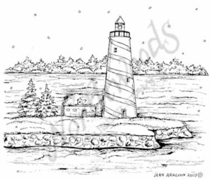 M7692 Winter Lighthouse