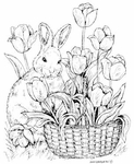 M7933 Bunny With Tulip Basket