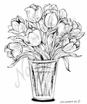 M8001 Tulip Bouquet In Glass