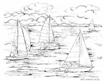 M8064 Four Sailboats