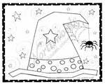 M8106 Starry Witch's Hat In Rectangle