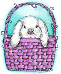 M8462 Bunny Peeking Out Of Basket