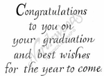 M8618 Grad Congratulations To You On Your Graduation